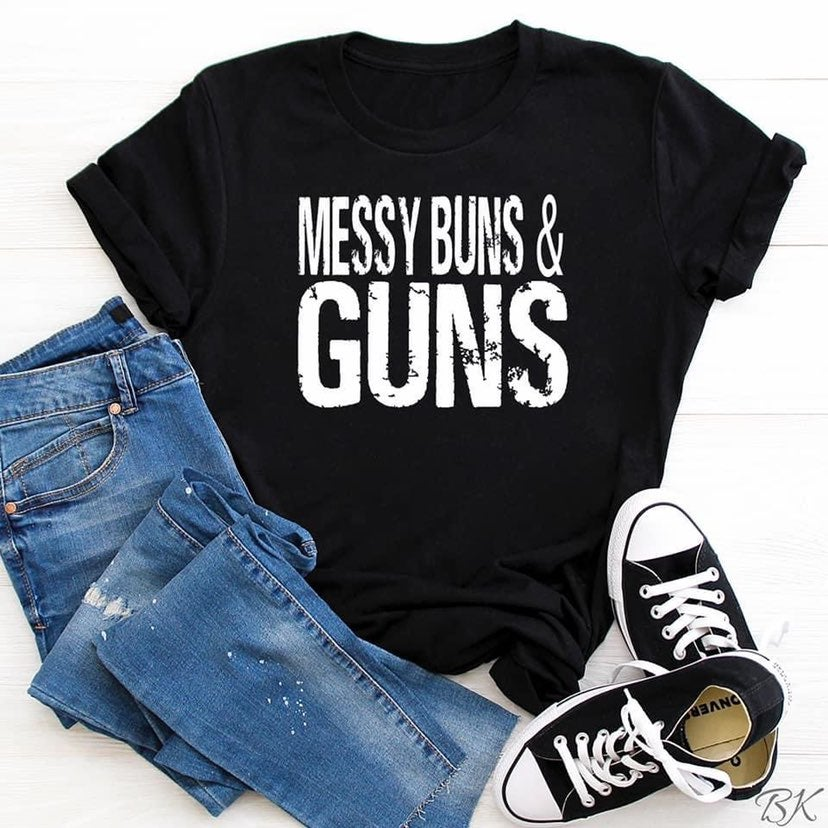 Large Messy Buns Bella+Canvas soft tee