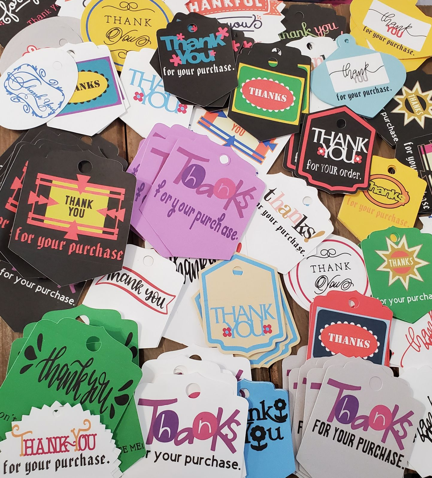 Thank You Tags Assortment Variety Set 50