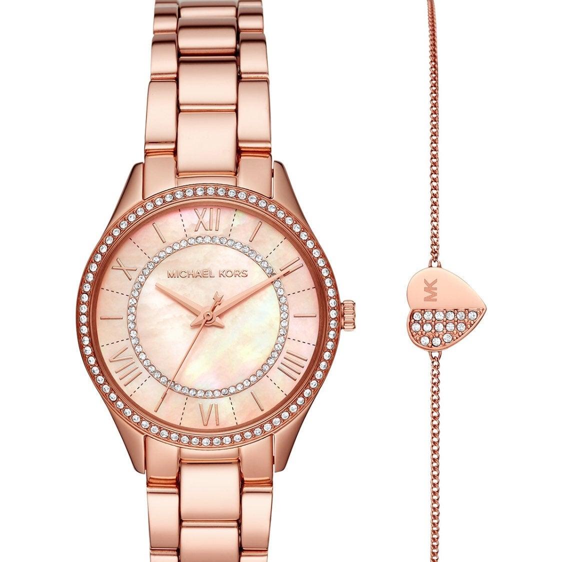 NIB Michael Kors Watch & Heart Bracelet