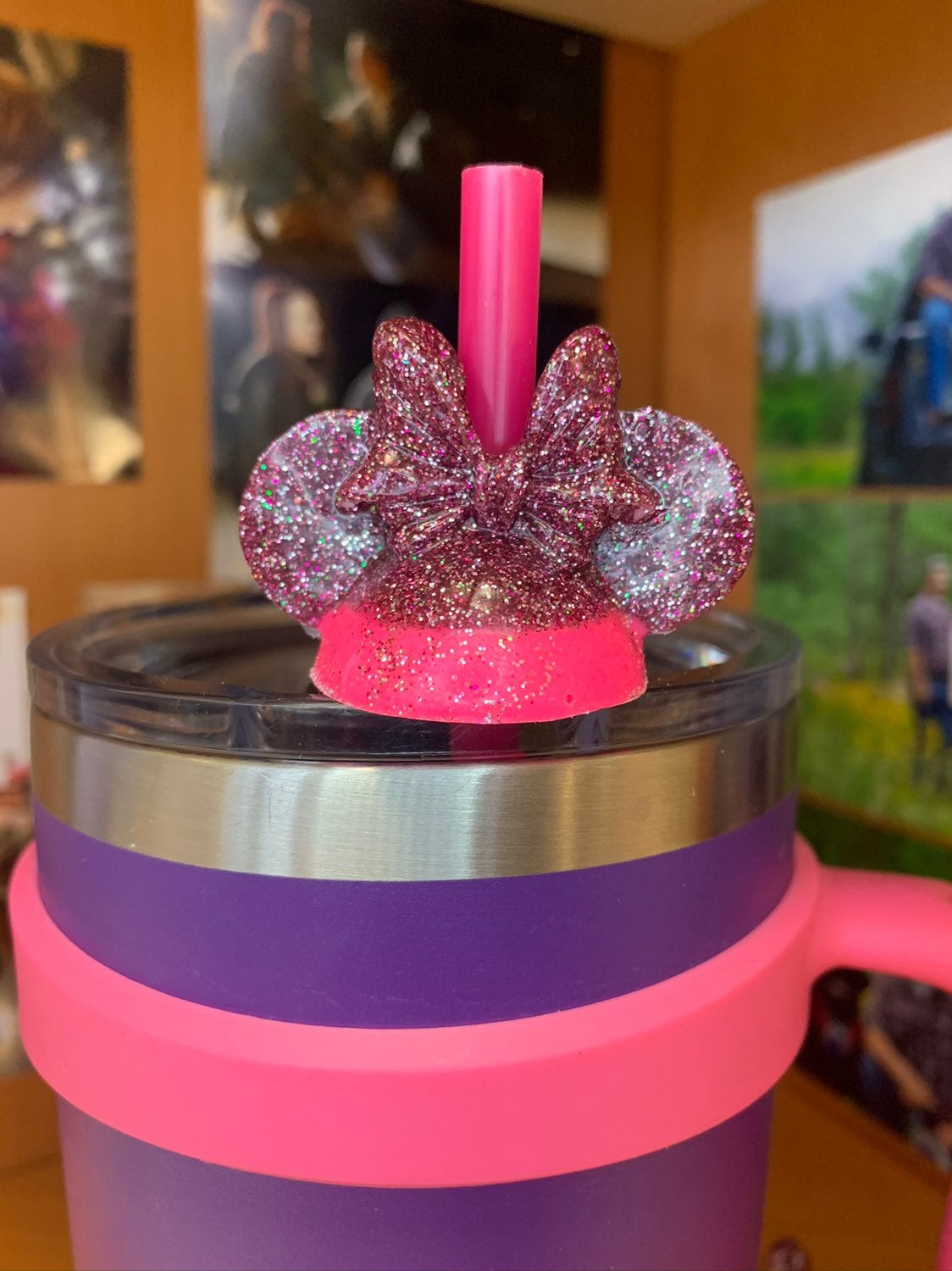 Minnie Mouse Straw Topper