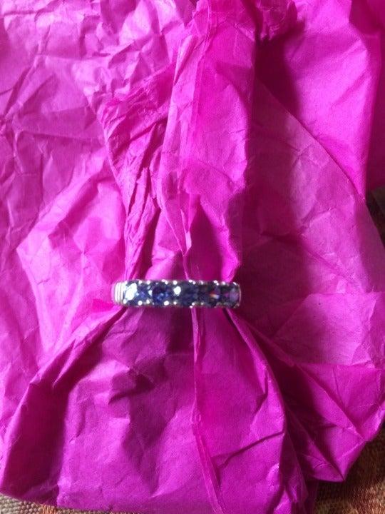 5 stone nano tanzanite ring size 9
