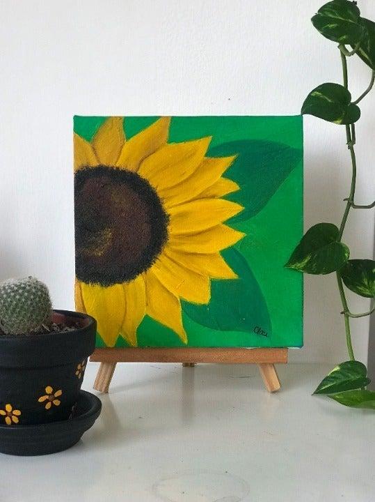 Sunflower oil painting ORIGINAL