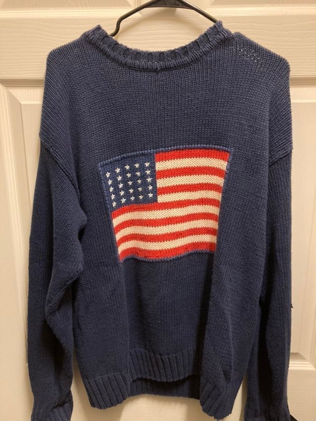 Vintage american flag knit sweater