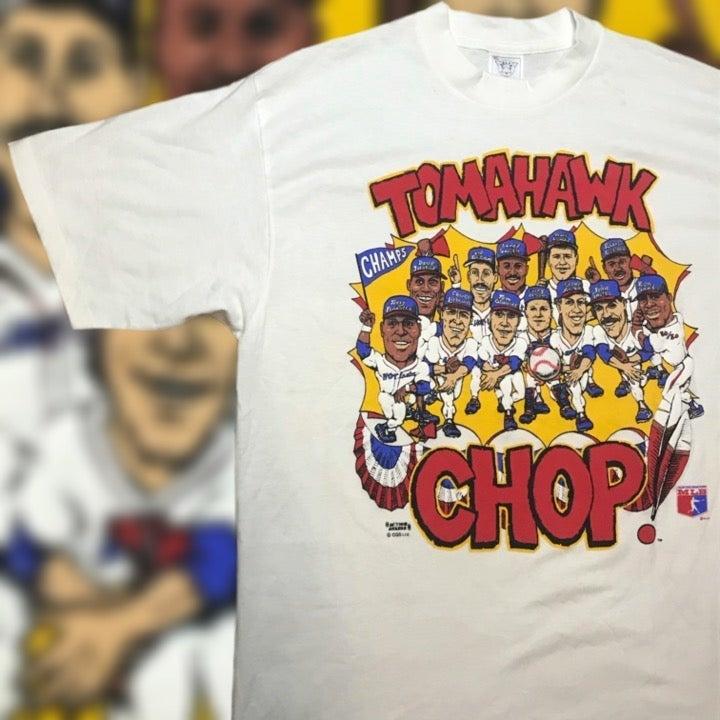 Vintage Atlanta Braves Caricature Shirt