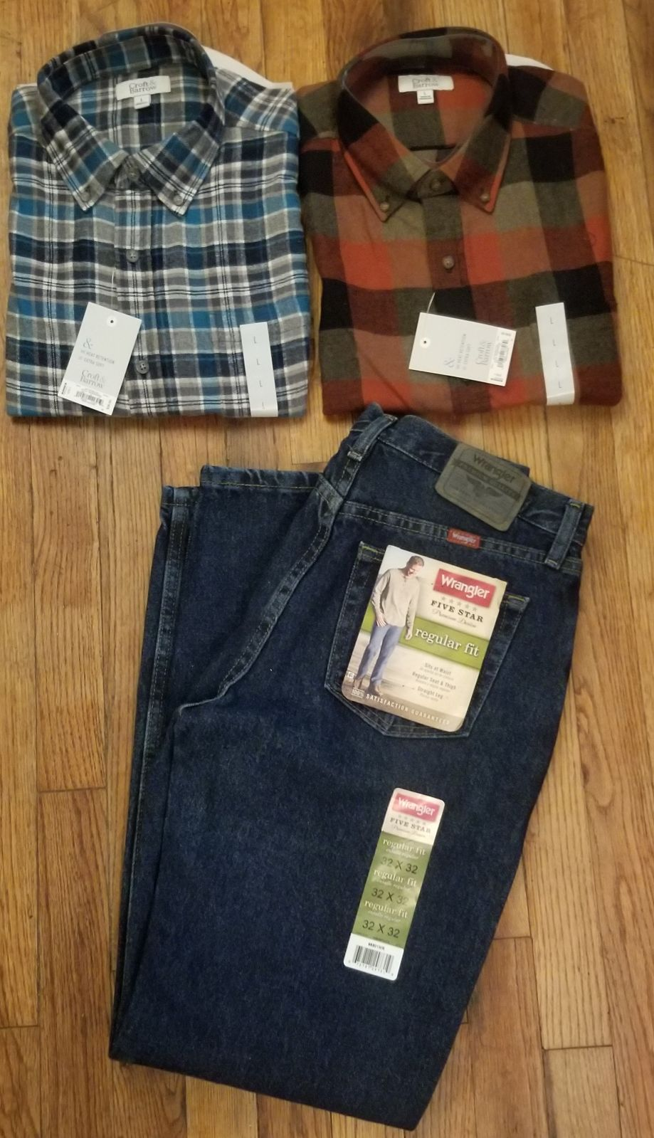 Mens Clothing Lot Outfit Flannel Tops/ W