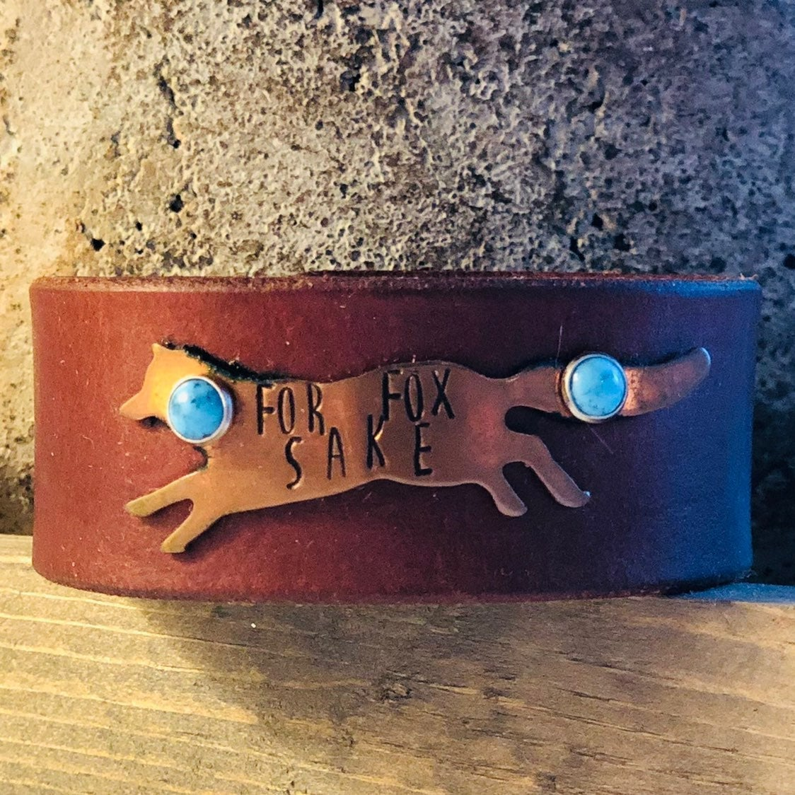 For Fox sake leather cuff bracelet