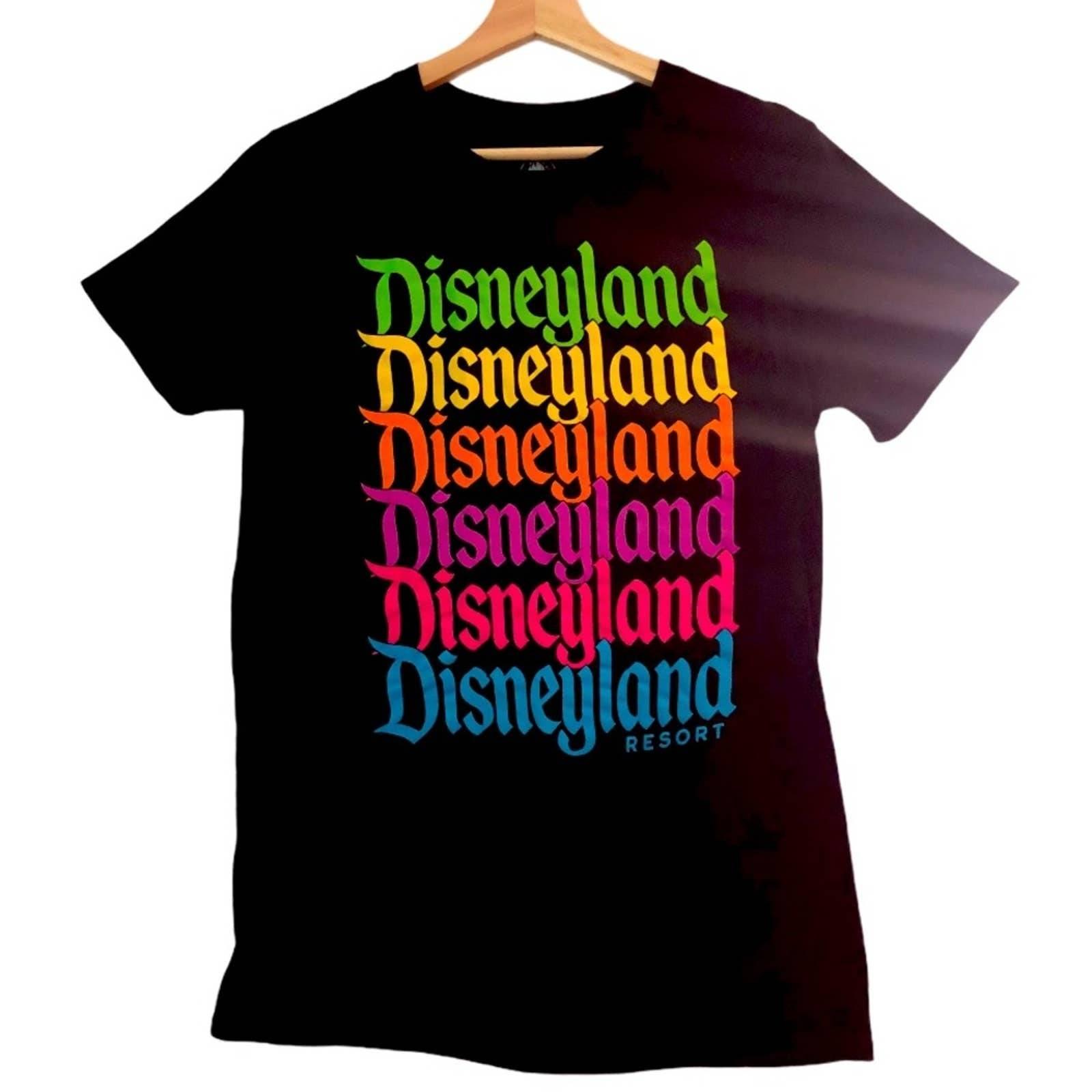 Disneyland Black Rainbow Tee S