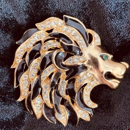 Vintage Craft Lion Head Brooch