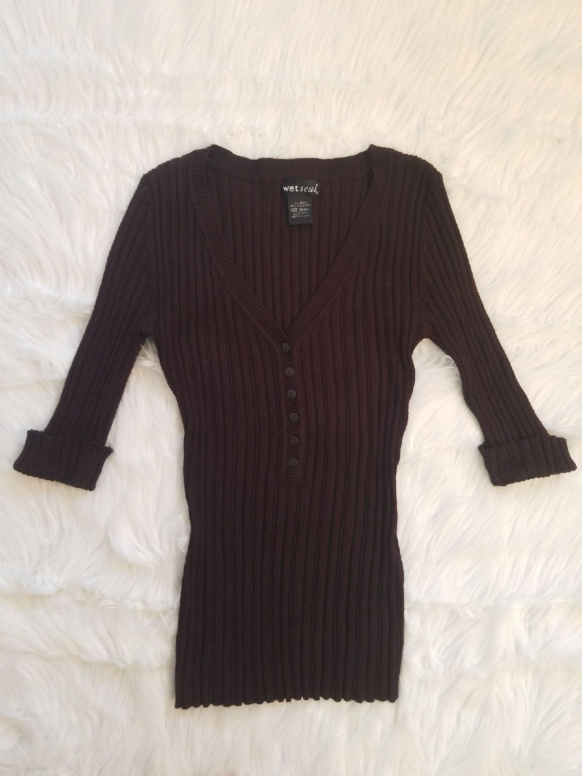 NWOT Super Cute Brown, Ribbed Sweater