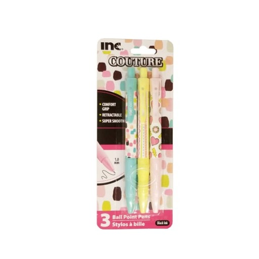 Inc Couture Ball Point Pen 3 Pack