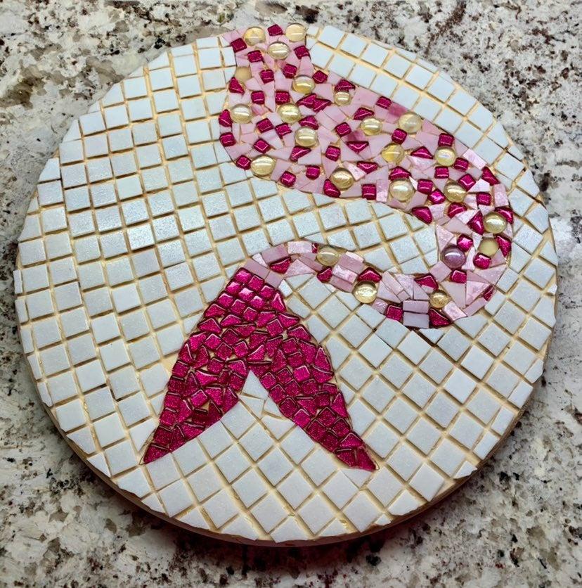 Mermaid Tail Mosaic Tile Artwork