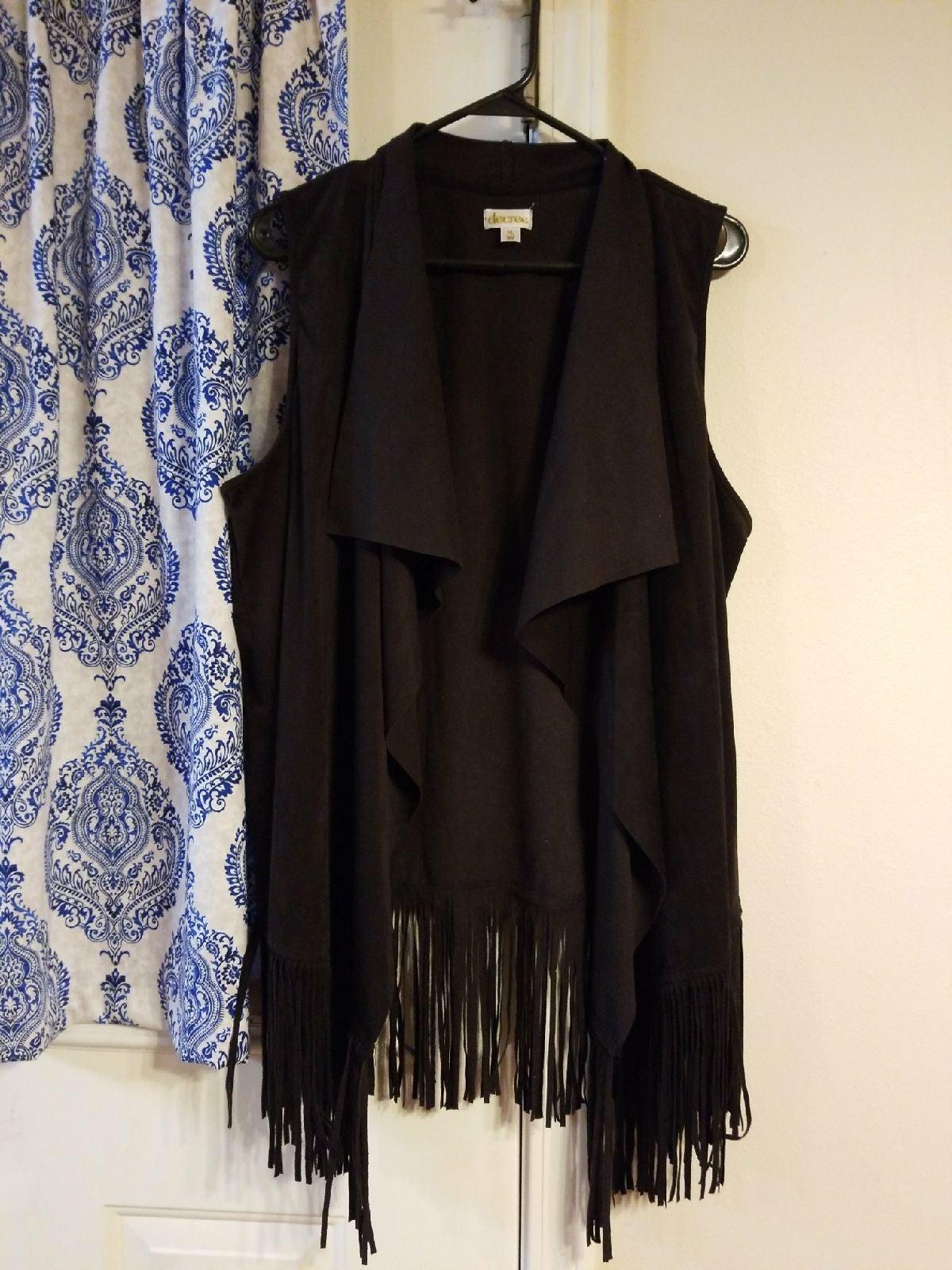 Fringe vest XL