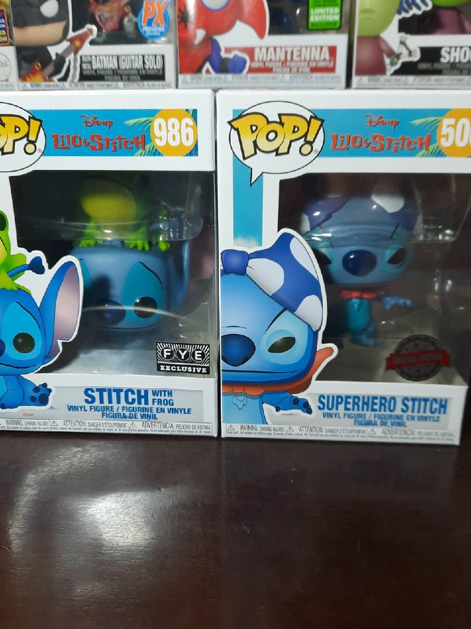 Stitch Funko Pops stitch frog & superher