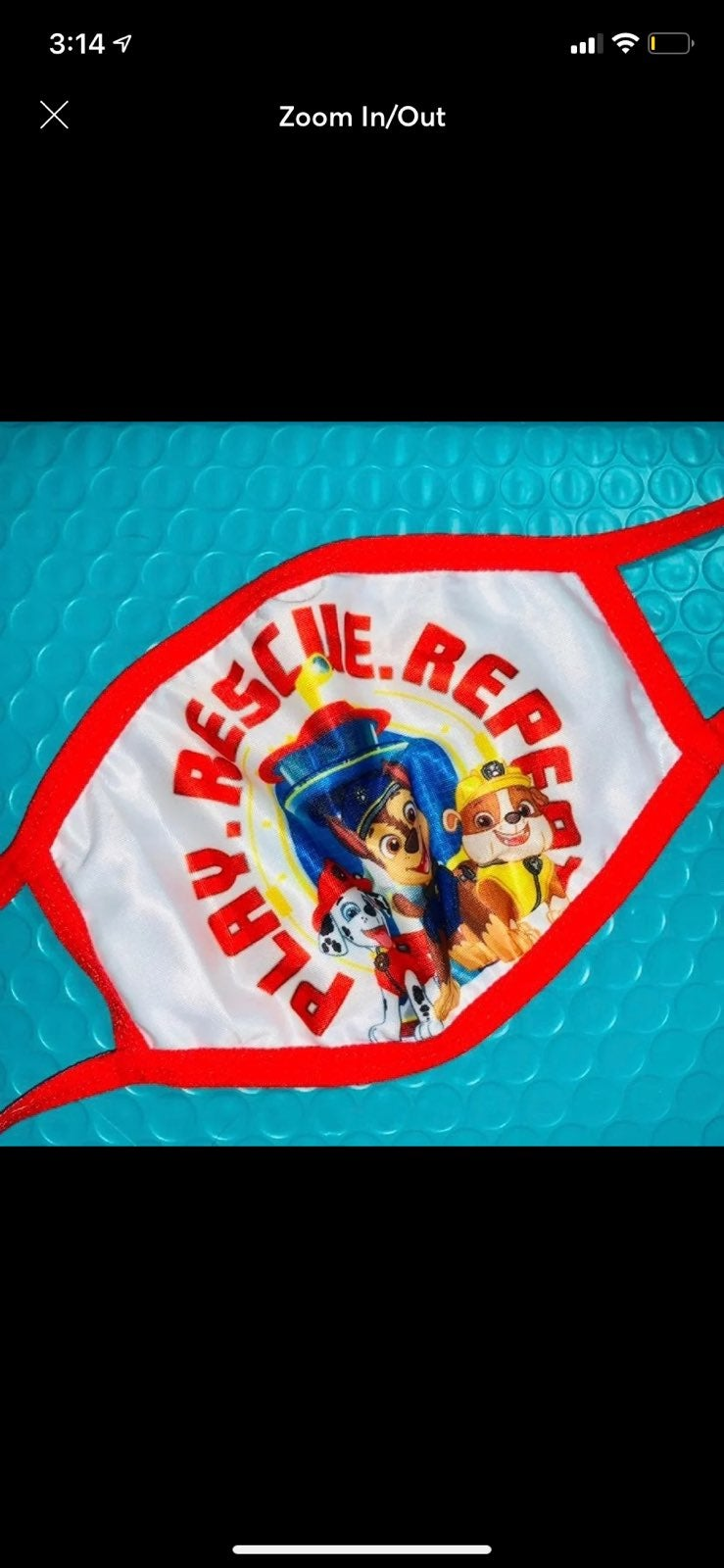 1 x Kids' Paw Patrol Face Masks, NWT!