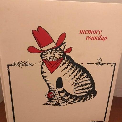 B Kliban Cat memory book