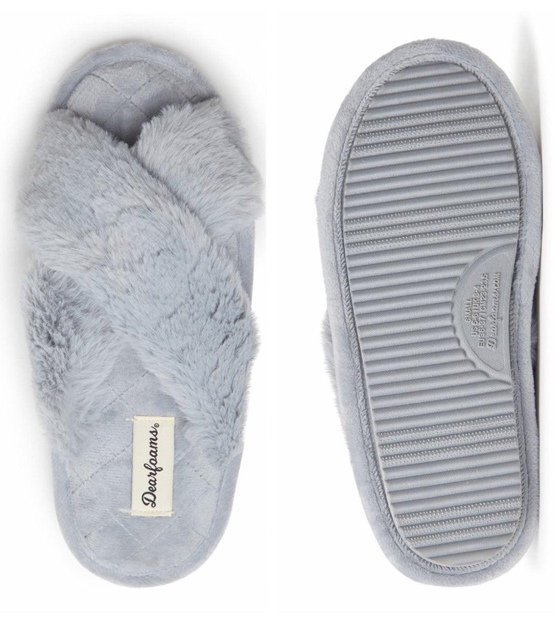 Jessica Faux Fur Crossband Slipper