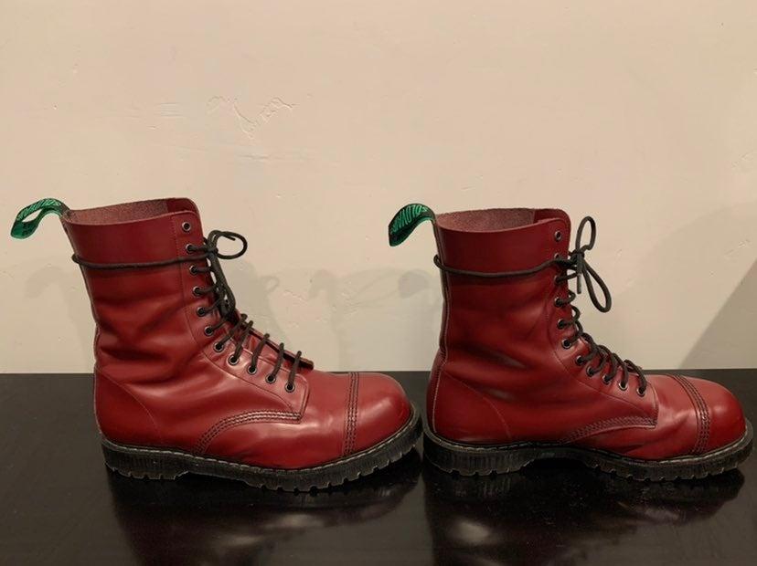 Solovair Cherry Red 11 Eye SteelToe Boot