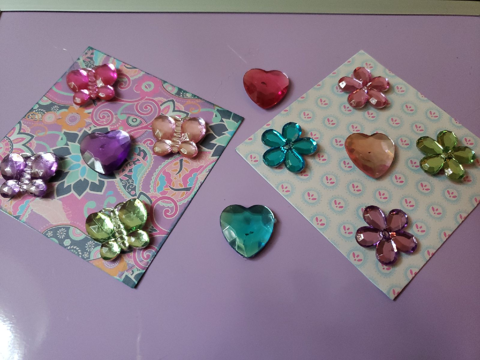 Magnets - butterflies, flowers, hearts