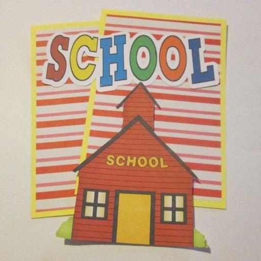 School House - Scrapbook or Card Set