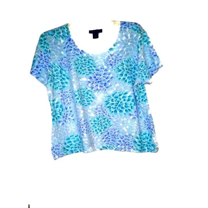 Karen Scott Sz PXL Top Short Sleeves