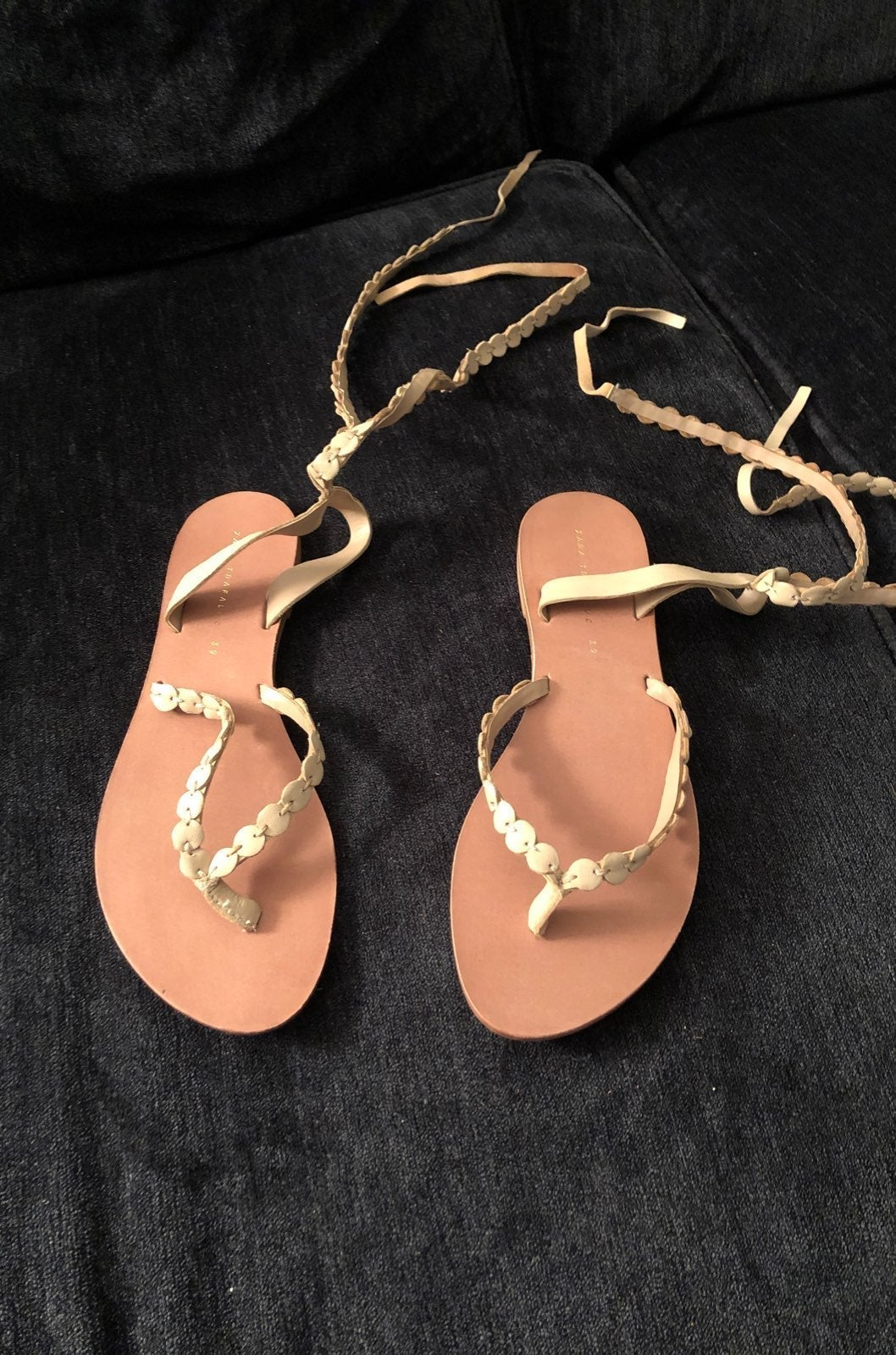 Zara Trafaluc Women Size 8.5 Tan Sandals