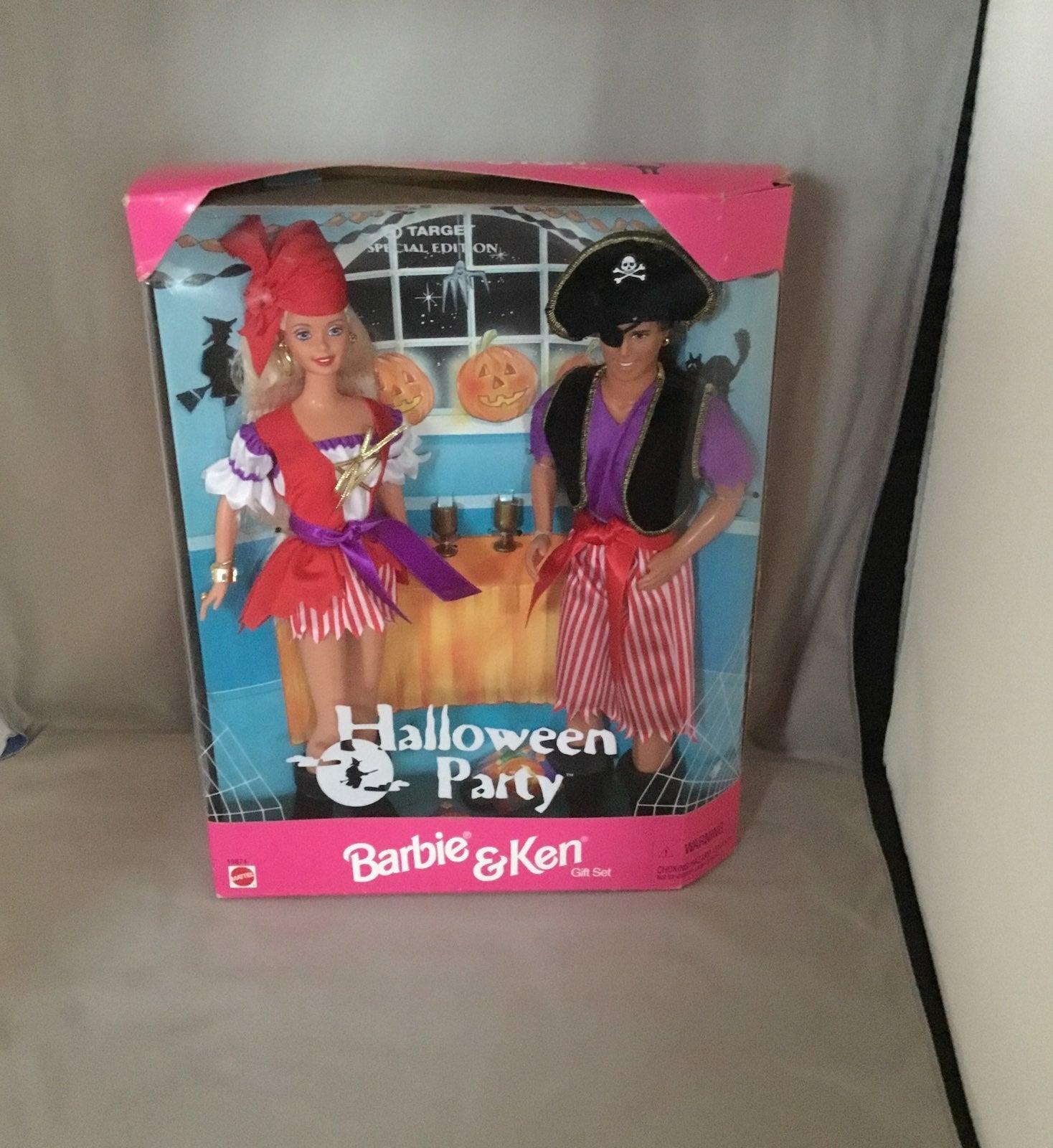 1998 Mattel Halloween Party Barbie & Ken
