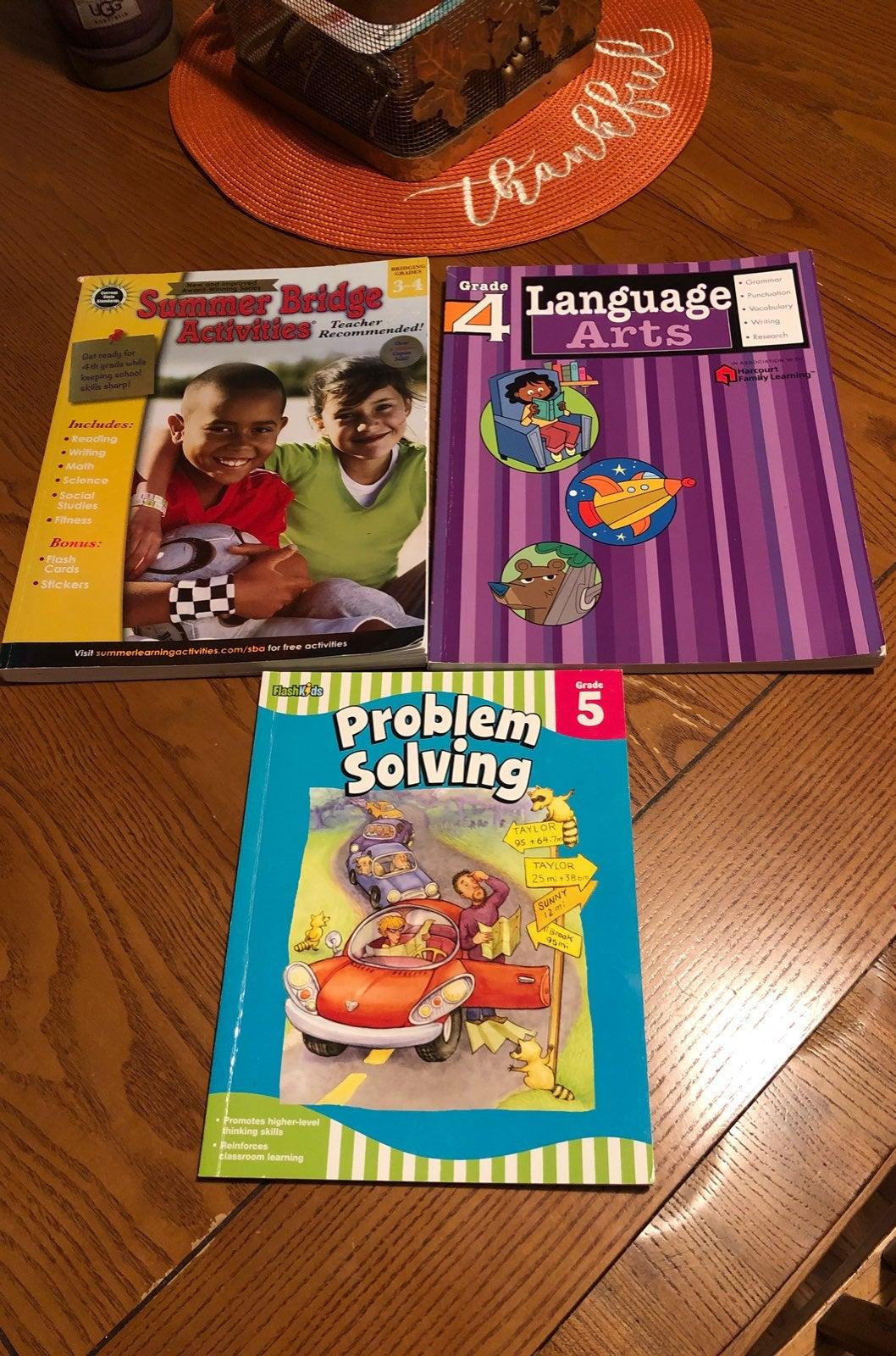 Grades 3-5 workbooks