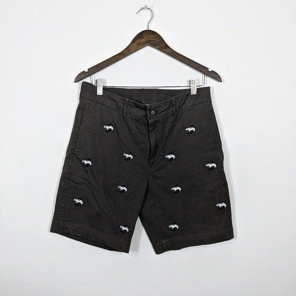 Vintage 1946 Embroidered Shark Shorts 32