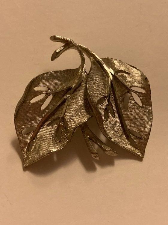 BSK Silver Leaf Brooch