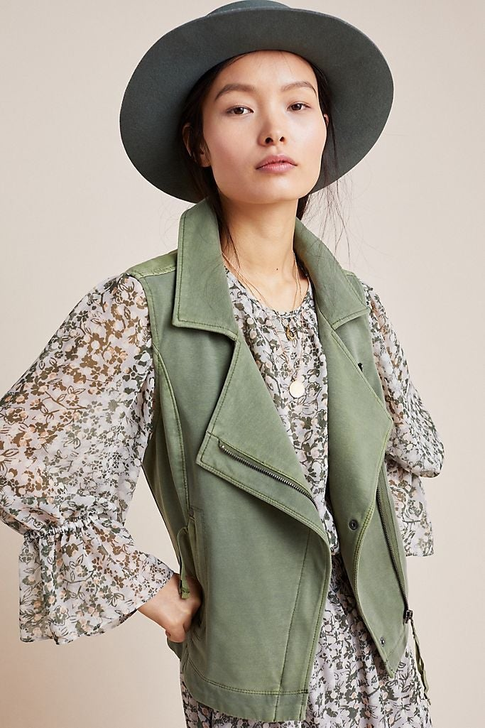 Anthropologie Marrakech Moto Vest