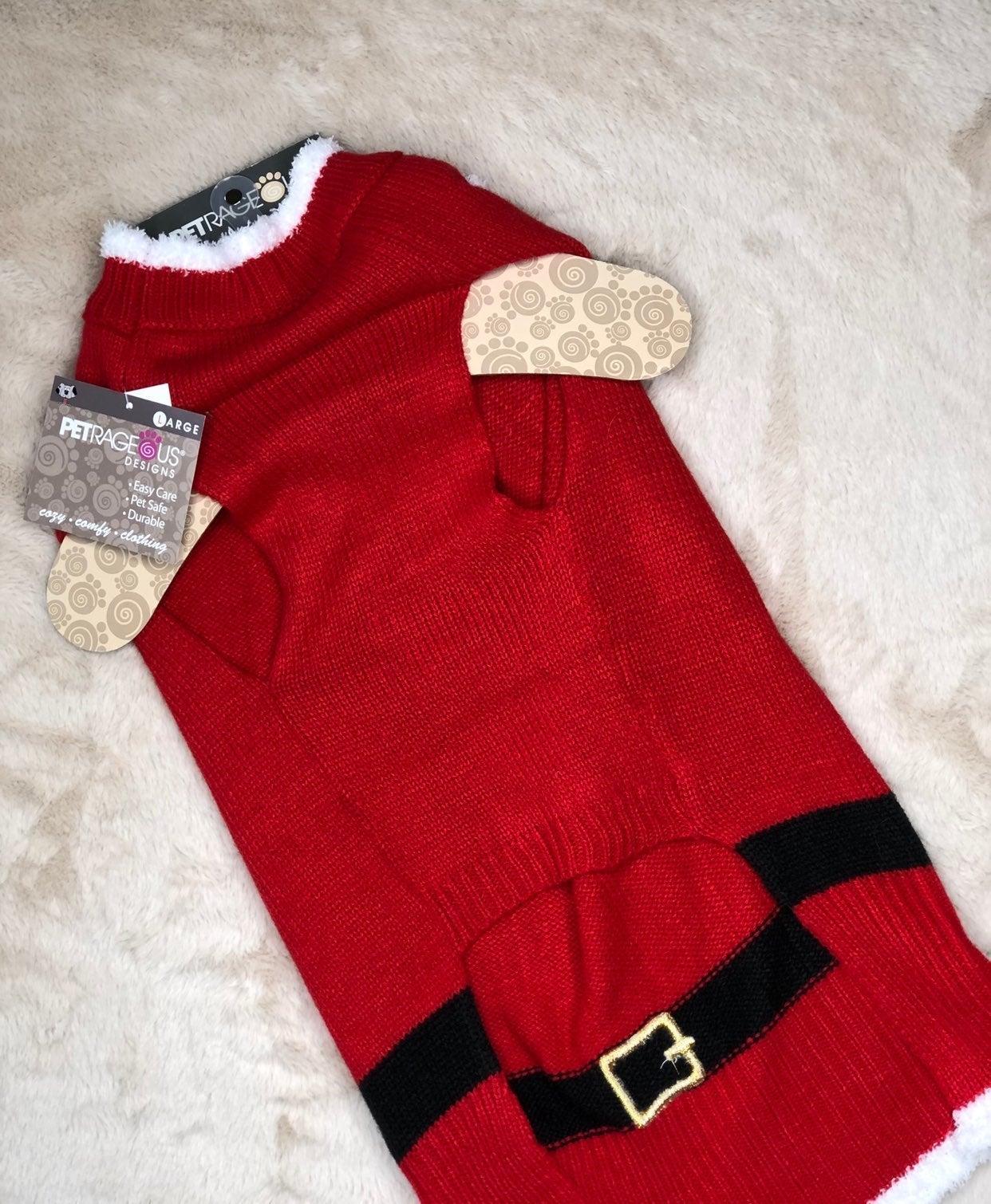 Santa Paws Dog sweater large