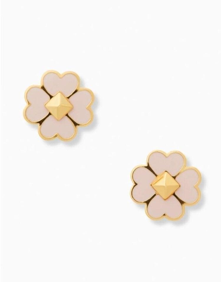 Kate Spade enamel spade floral earrings