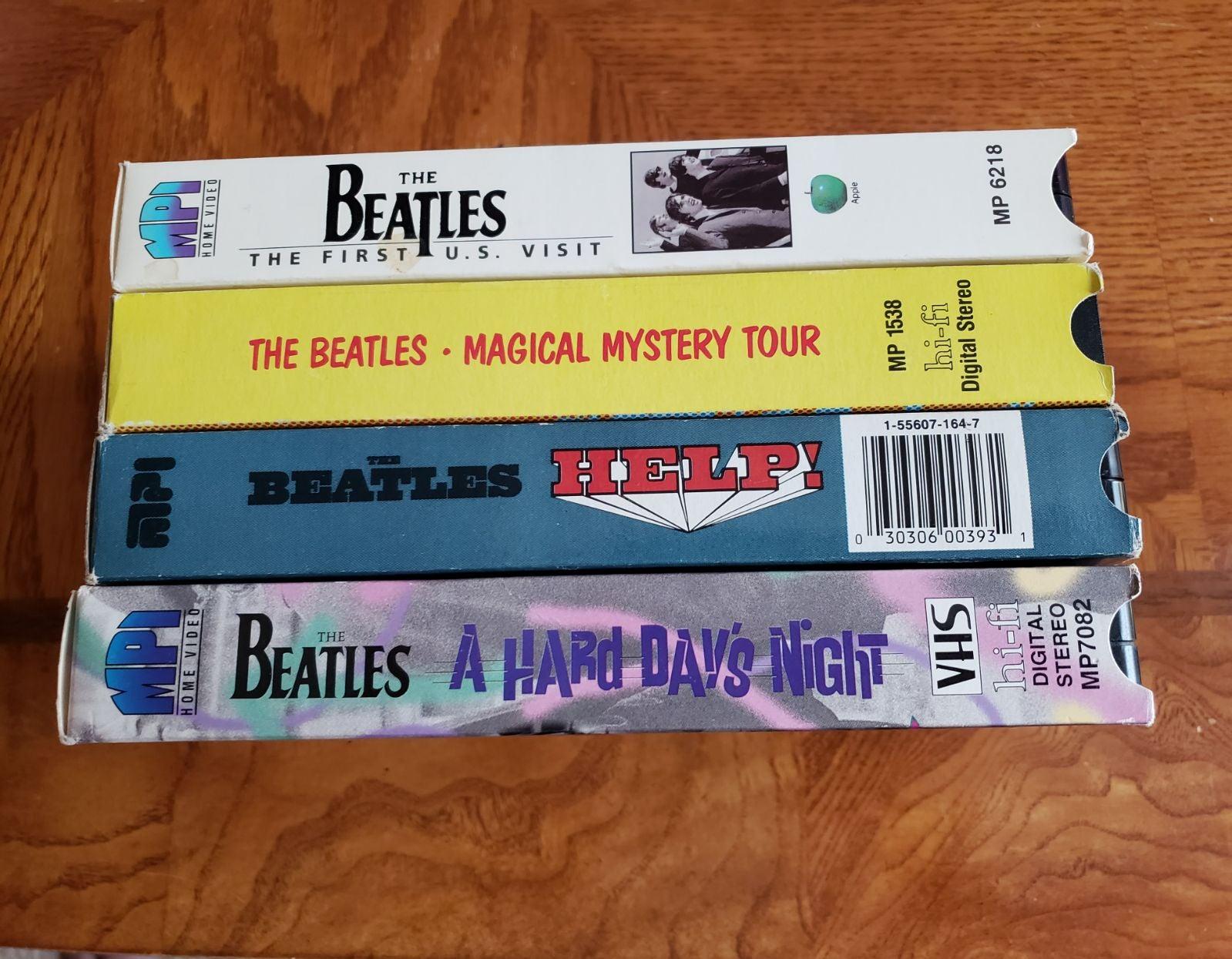 Set of 4 VHS Beatles Movies