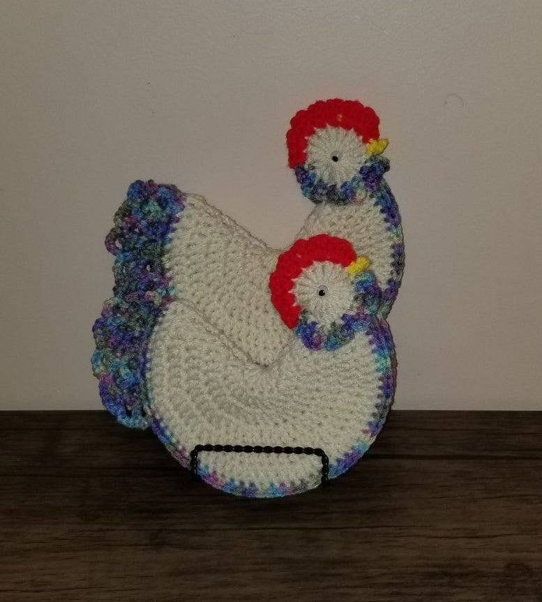 Crocheted Rooster Pot Holders