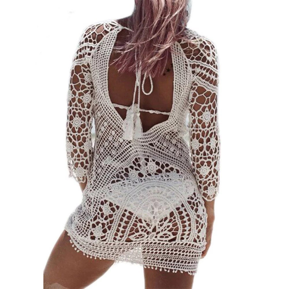 Which lace and crochet beach cover up