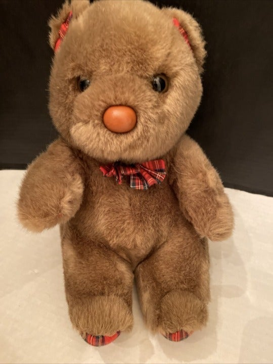 Russ Stuff Plush Brown Bear Andrew Teddy