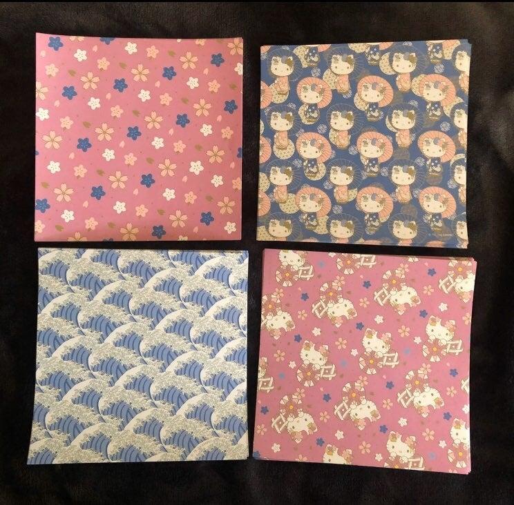 Sanrio Hello Kitty Sakura Waves Origami