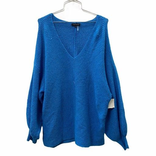 1. State Blue Balloon Sleeve Sweater