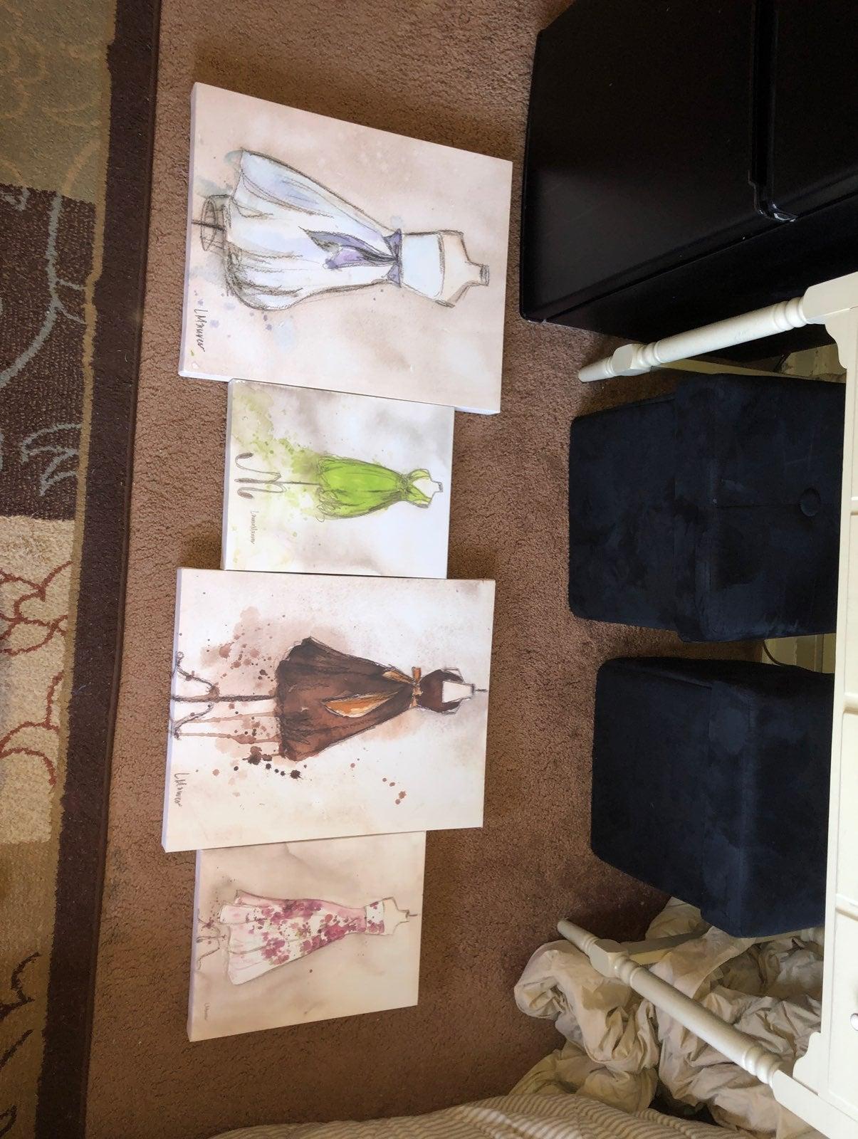 Canvas painting lot by lauren maurer