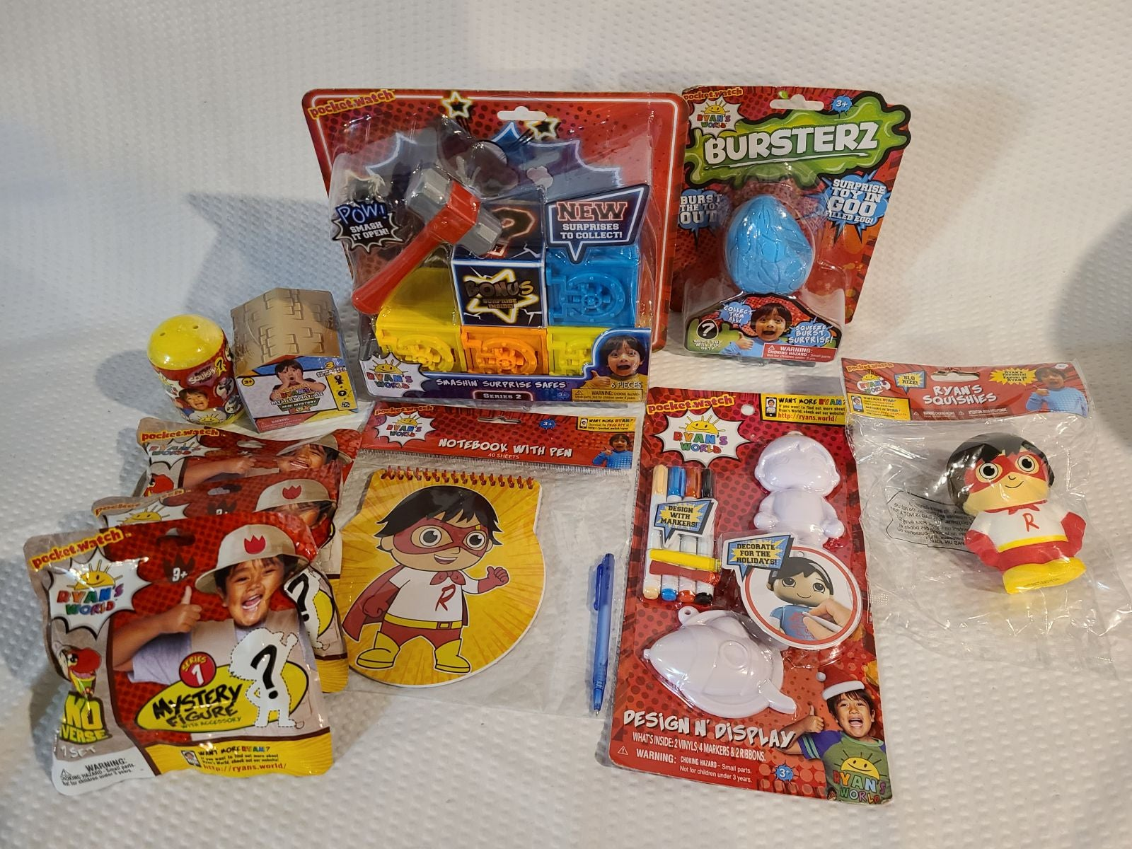Ryan's World Toy Lot 10 peices