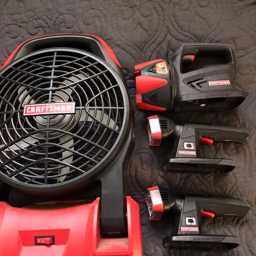 Craftsman battery operated fan and set o