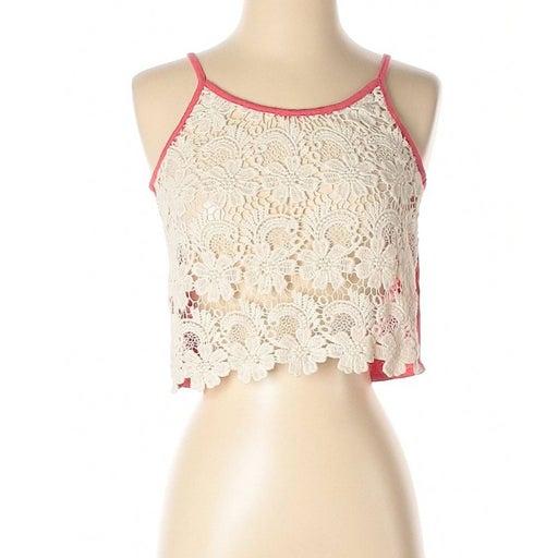 [a30-20] Chloe K | floral crochet top