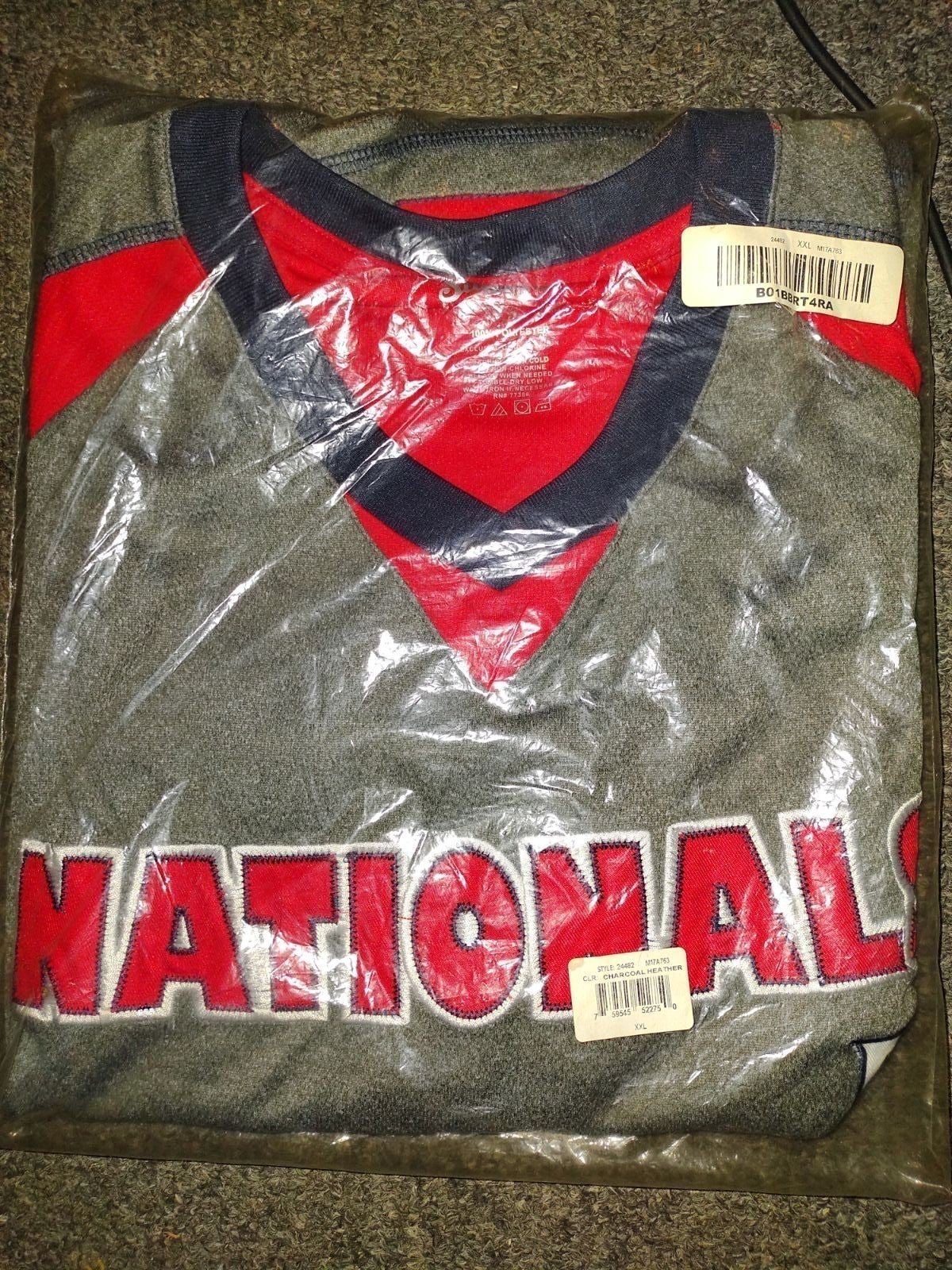 New size 2X Nationals stitched shirt