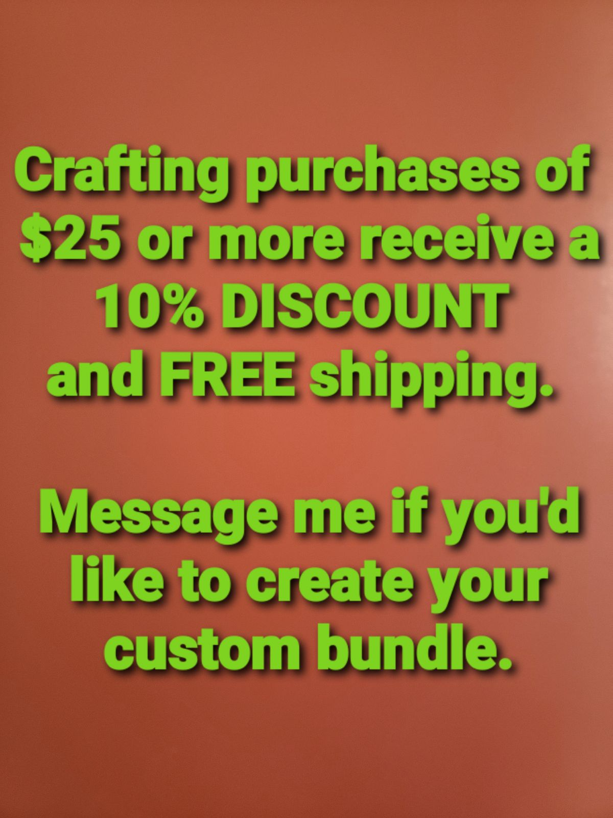 CRAFTING ITEMS - Bundle and Save!