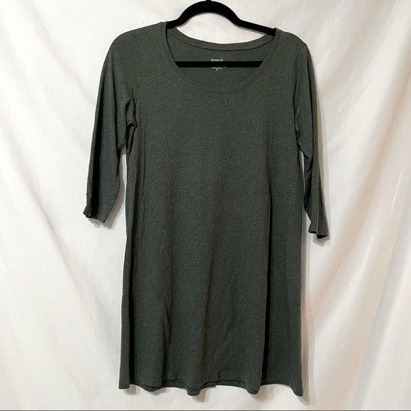 Pure Jill Green 3/4 Sleeve Tunic Dress X