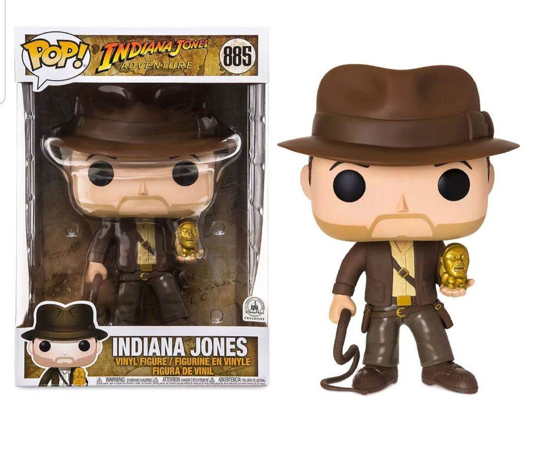 Funko Pop Indiana Jones #199 Metallic ECCC 11cm Collection Model Figures Toy