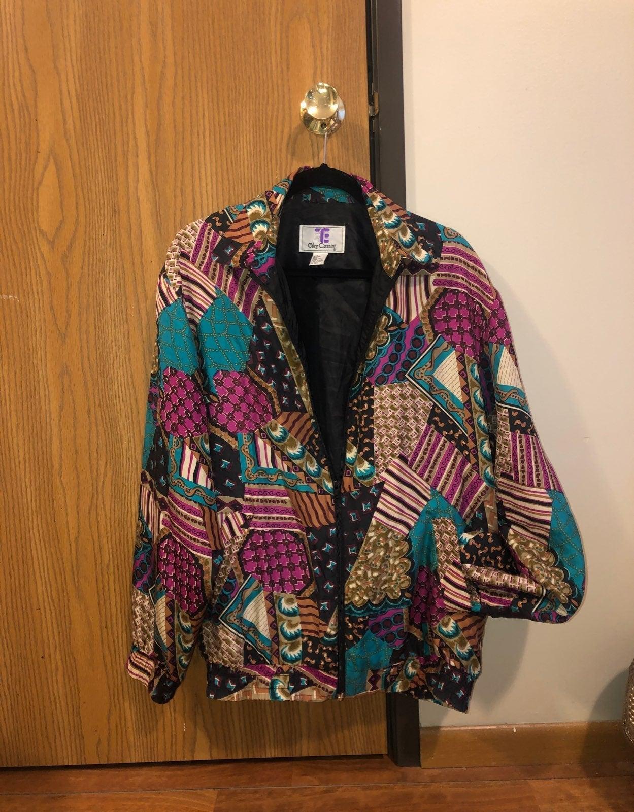vintage silky bomber jacket