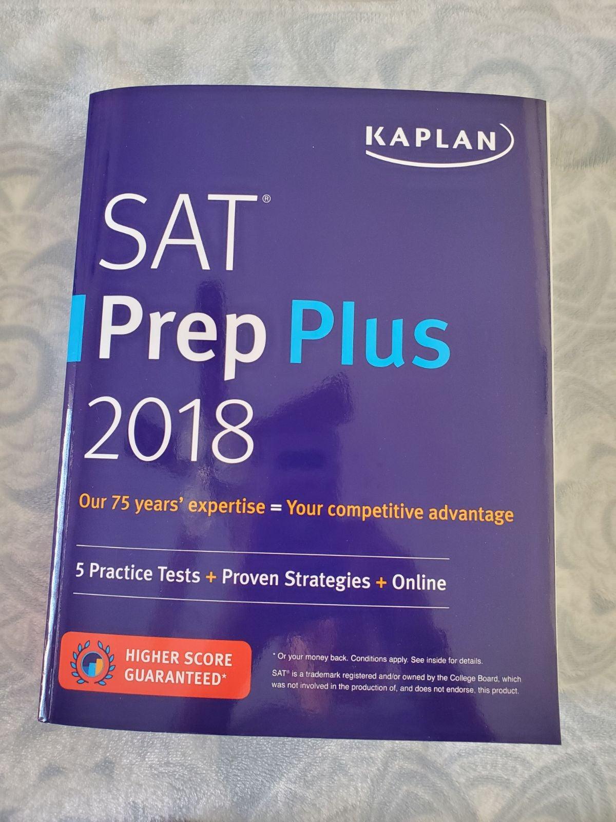SAT Prep Plus Book Kaplan 2018