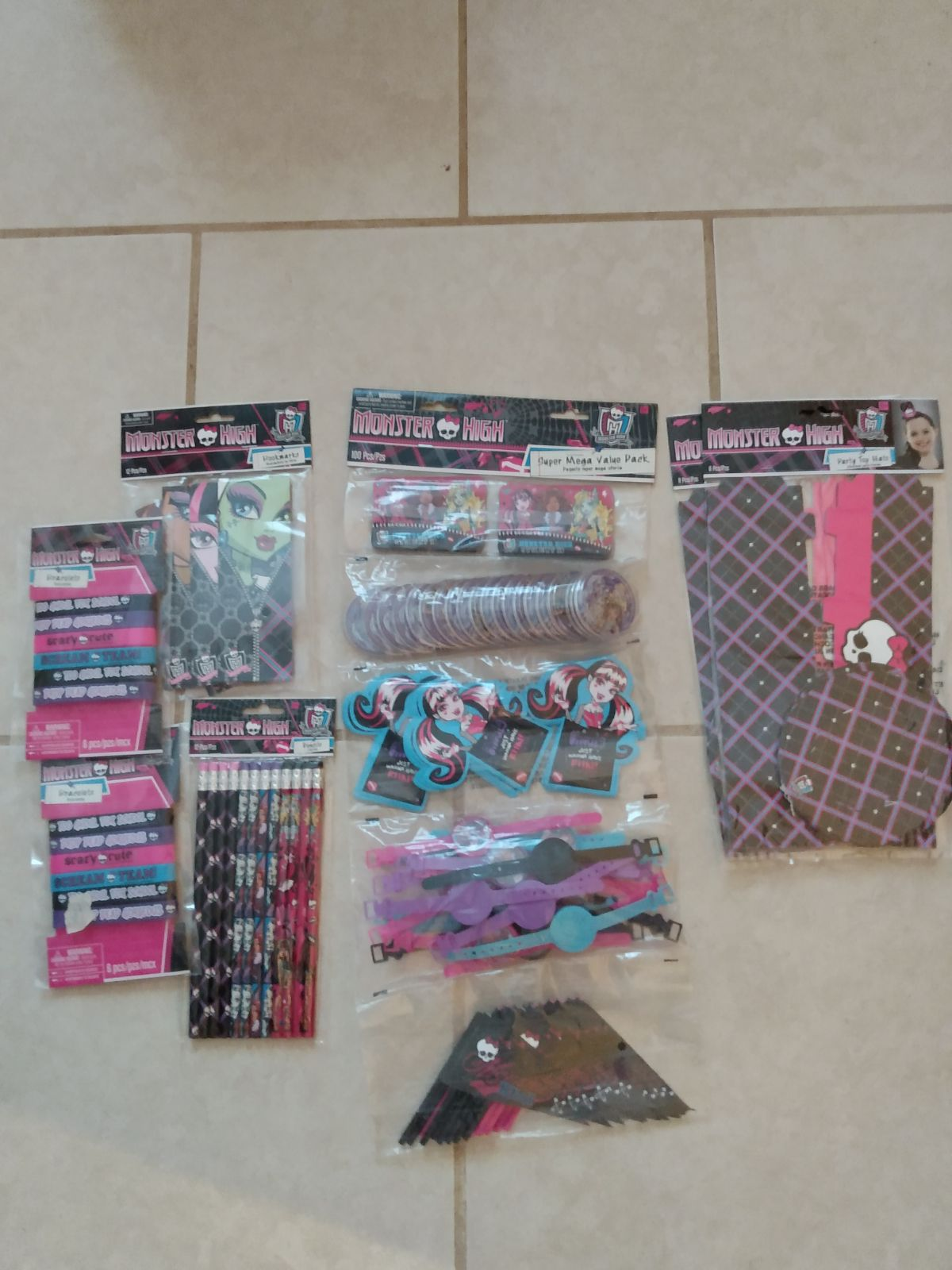 Monster High birthday party favors 12 ea