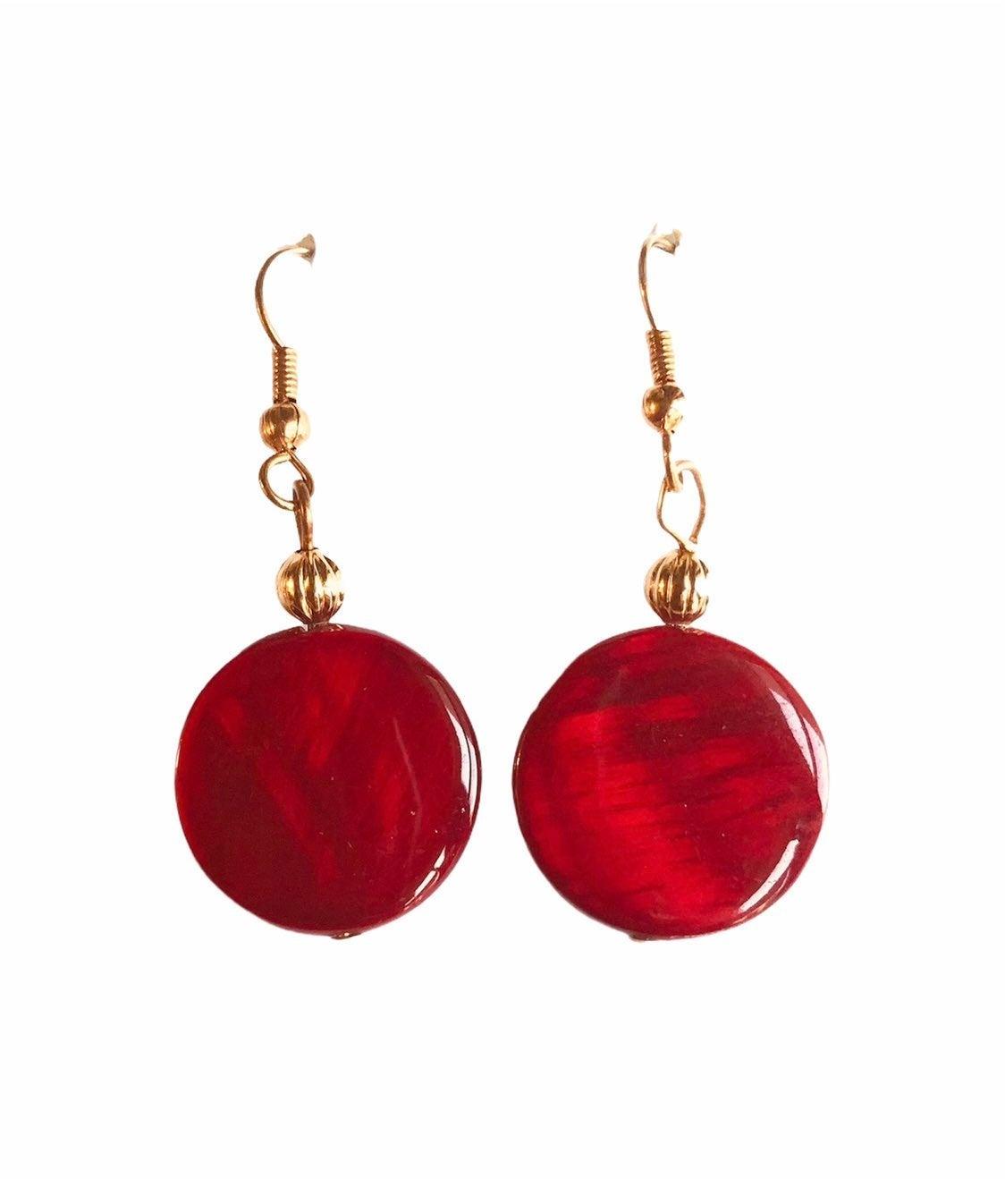 Red Earrings - new